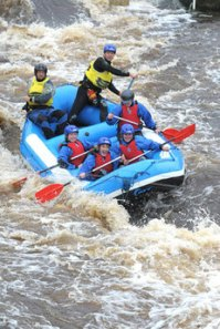 Spindryft Raft guiding, Tees Barrage International WWC