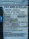 Flamborough South Landing Parking charges